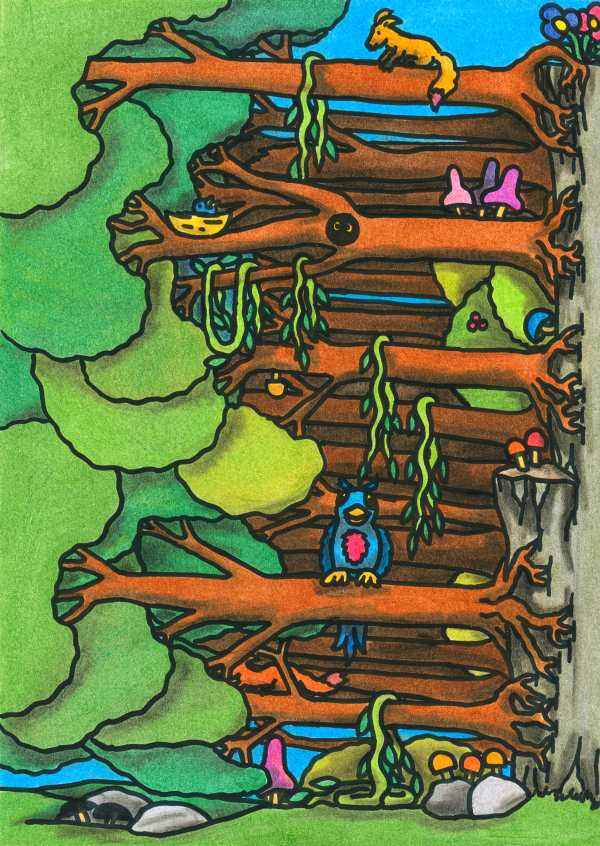 The Endearing Forest, as illustrated by Verena Kyratzes, from the Oneiropolis Compendium